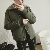 (全館免運)(TE-9871)學生棉衣翻領防風短款外套