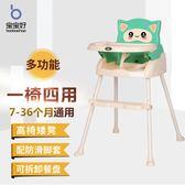 寶寶好兒童餐椅餐桌嬰兒小孩吃飯桌子可摺疊便攜式多功能寶寶小凳   HM 居家物語