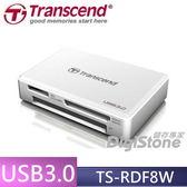 【免運費+贈SD記憶卡收納盒】創見TS-RDF8 TS-RDF8W USB 3.0 F8 多功能讀卡機x1(白)◆支援CF(最大128GB)◆