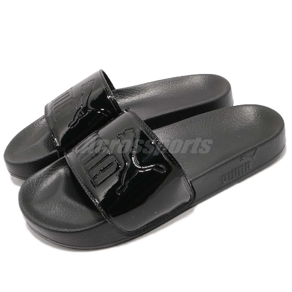 Puma 拖鞋 Leadcat Patent Wns 黑 全黑 一片拖 運動拖鞋 女鞋 夏日必備 涼拖鞋【PUMP306】 36728201