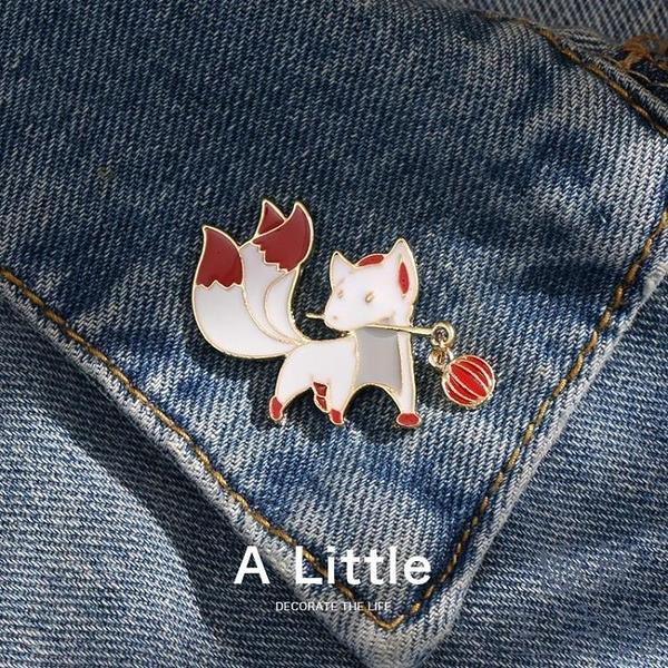 【買2送1】小狐貍胸針日系徽章領口別針男女【極簡生活】