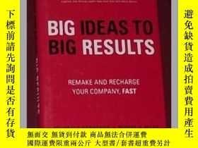 二手書博民逛書店原版罕見BIG Ideas to BIG Results: Re