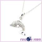【Fulgor Jewel】銀飾 意大利流行飾品 生日情人節禮贈品 唯美海豚 925純銀 項鍊(含鍊子)