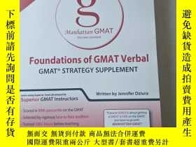 二手書博民逛書店Foundations罕見of GMAT Verbal (Gmat Strategy Guides)Y4470