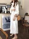 棉麻洋裝 白色襯衫裙女裝寬鬆過膝慵懶風氣...