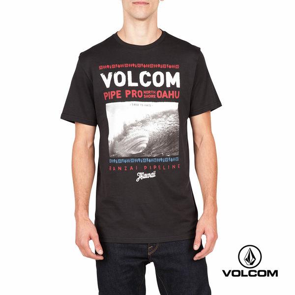 VOLCOM PIPE PRO 公益聯名款 Modern fit 短袖T-Shirt-黑x圖文