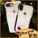 iPhone11 Pro max軟殼iPhone8 Plus保護套i7Plus手機殼i6s日韓菱形鑽石紋 iPhoneXS max全包邊加厚防摔矽膠