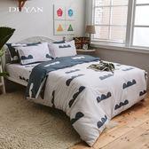 《竹漾》 100%精梳純棉單人床包二件組- 天空之城