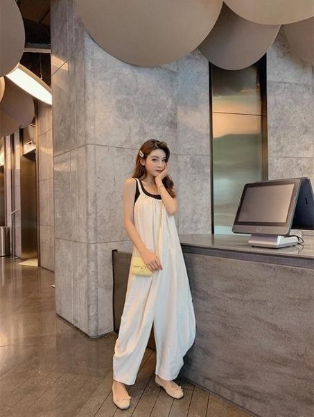 NiCELIFE 韓系 連身褲 【P7531】 吊帶褲 寬鬆 長褲 背帶褲 孕婦可穿