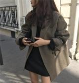 流行毛呢外套女冬季新款韓版小個子寬鬆中長款西裝呢子大衣潮 雅楓居