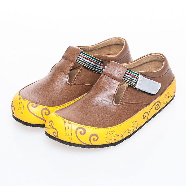 【Jingle】新貓咪奇緣全包款軟木鞋(咖啡色大人款)