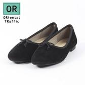 【ORiental TRaffic】經典質感絲絨芭蕾舞鞋-經典黑