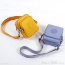 錢夾 手機包女斜挎迷你小包包零錢夾放鑰匙手機袋2021新款夏天帆布小包 俏girl
