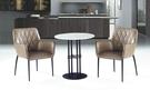 【南洋風傢俱】室內餐桌椅系列-爵士白石面休閒桌椅組 CX899-1 CX933-3