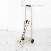 【預購】CB JAPAN 巴黎系列輕巧摺疊彩色手推車│三色米黃色