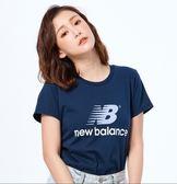 New Balance 女款深藍短袖上衣-NO.AWT93590PGM