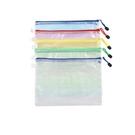 A4網格文件袋OLD90 手提袋 防水袋 資料袋 資料夾 網格袋 拉鍊袋 文具袋 網格拉鍊袋
