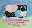 【震撼精品百貨】Little Twin Stars KiKi&LaLa 雙子星小天使~手機袋_黑_附繩