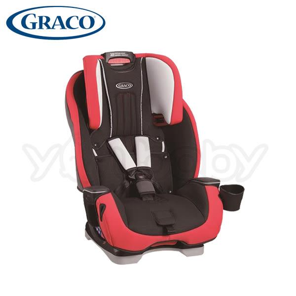 Graco MILESTONE 0-12歲長效型嬰幼童汽車安全座椅/汽座 -紅色