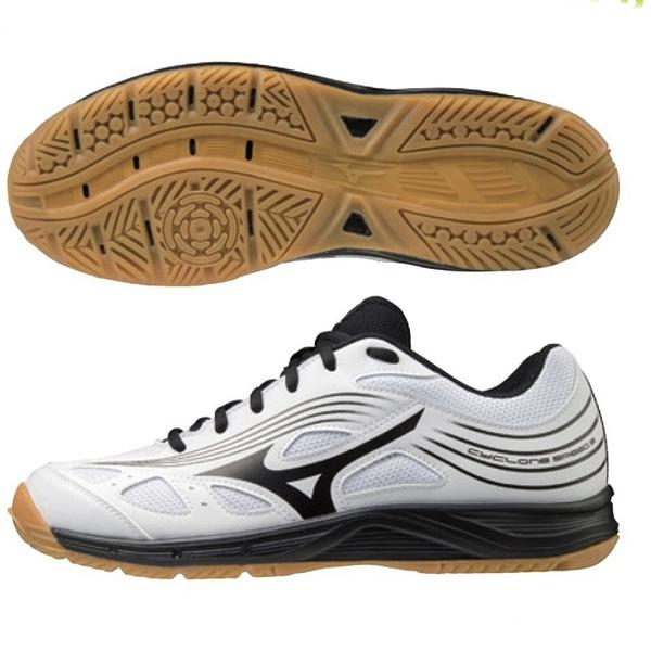 MIZUNO CYCLONE SPEED 3 女鞋 排球 手球 耐磨 透氣 白黑【運動世界】V1GC218009