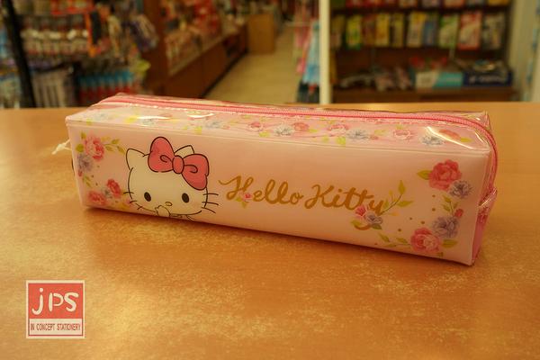 Hello Kitty 凱蒂貓 長方型PVC筆袋 收納袋 970747