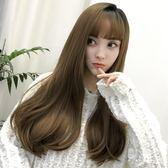 韓式長假髮韓式側分內彎假髮女長直髮隱形無痕仿真空氣瀏海網紅髮套【全館85折】