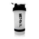 MET-Rx 美瑞克斯 健身運動專用搖搖杯 附鋼球 450ml (白)