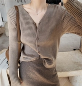 針織外套 chic早秋新款洋氣內搭上衣韓版寬鬆外穿針織開衫很仙的毛衣外套女