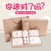 純棉嬰兒衣服新生兒禮盒套裝初生寶寶用品夏季滿月網紅禮物 QQ924『優童屋』