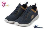 Skechers ELITE FLEX 成人男款 套入式 免綁帶 輕量 透氣 運動鞋 Q8283#藍色◆OSOME奧森鞋業