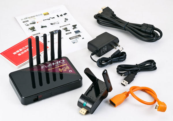 呈現攝影-ROWA RW-5800 影音無線傳送器 黑色 WHDI 高清 Full HD 拍攝 錄影 攝影棚Canon nikon
