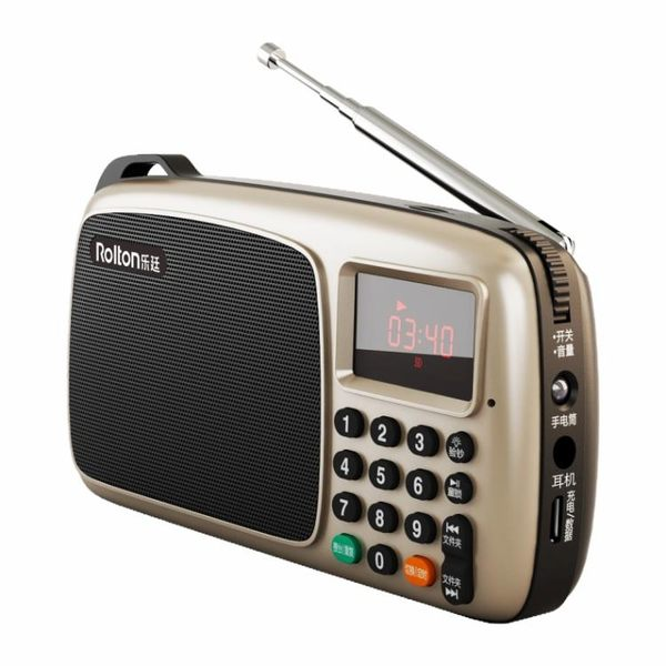 Rolton/樂廷 T301全波段收音機充電插卡音箱便攜式老人迷你唱戲機【全館鉅惠85折】