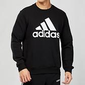 Adidas MH BOS CREW FL 男款 黑色 基本LOGO 圓領大學T 長袖 EB5265