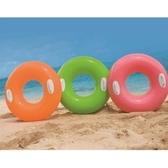 游泳圈 充氣-安全手把純色加厚水上活動坐騎浮板3色73ez16【時尚巴黎】