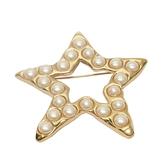 GIVENCHY 紀梵希 珍珠海星造型胸針 Cabochon Star Pin Brooch【 二手品牌BRAND OFF】