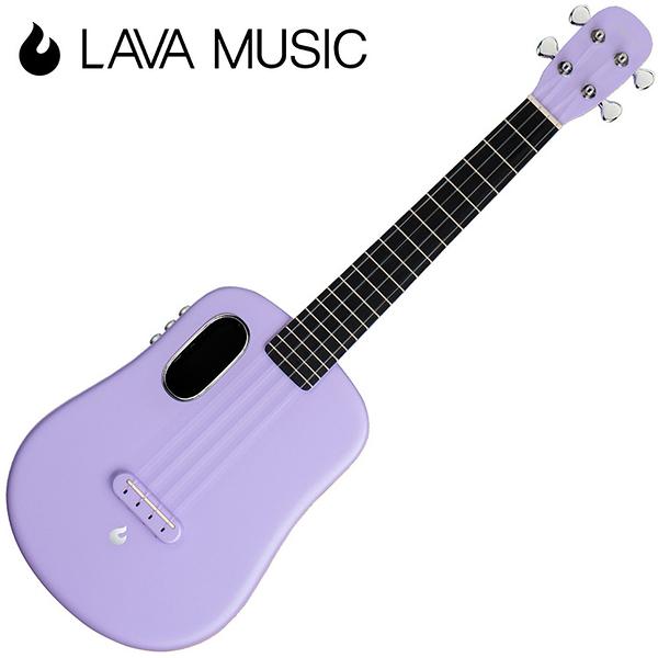 LAVA U 拿火烏克麗麗-26吋/L2 mini /Free Boost/碳纖維材質/插電加震款/粉紫色