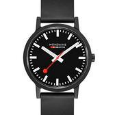 MONDAINE 瑞士國鐵essence系列腕錶-41mm/黑 41120RB