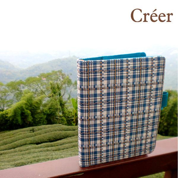Creer NB-90041-32 B6/32K 半年誌/手札/(自填式方格1日1頁100磅)-格紋藍