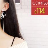 耳環 清新 鏤空 圓環 花朵 吊墜 氣質 耳環【DD1711065】 BOBI  11/30
