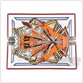 HERMES愛馬仕經典印度摩利圖騰陶瓷雪茄菸灰缸(花束)