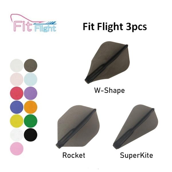 【Fit Flight】Rocket/S Kite/W Shape 素色 3pcs 鏢翼 DARTS