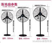 工業電風扇大功率機械式搖頭工廠強力壁掛落地扇大風量商用牛角扇igo 美芭