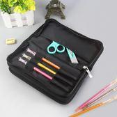 多功能雙層筆袋男 大容量創意簡約鉛筆盒筆袋學生男 小學生文具盒   LannaS