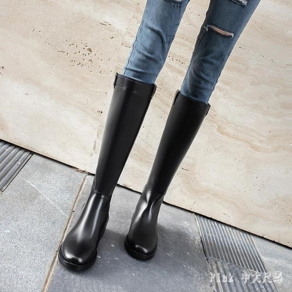 長靴女過膝騎士靴2冬季新款高筒靴ins網紅瘦瘦靴中跟粗跟棉鞋 JY17349【Pink中大尺碼】