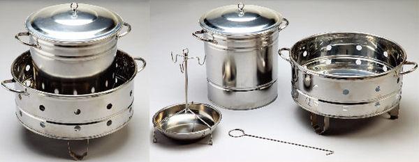 多功能桶仔雞爐 不鏽鋼 烤肉爐 烤雞爐 露營 戶外 4208[百貨通]