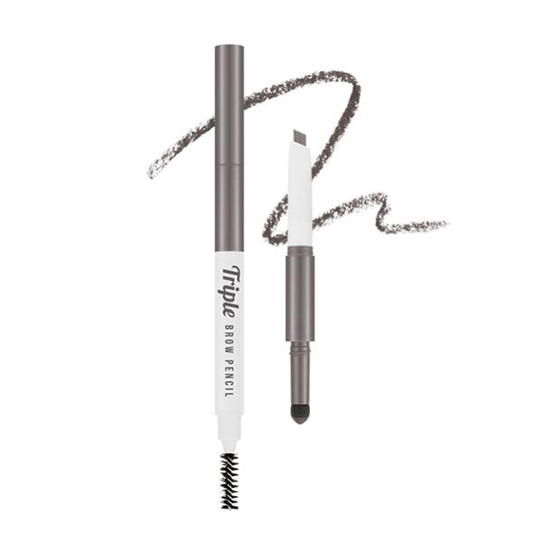 MISSHA 三式設計眉彩筆 (誘灰棕) 眉筆0.22g+眉粉0.5g