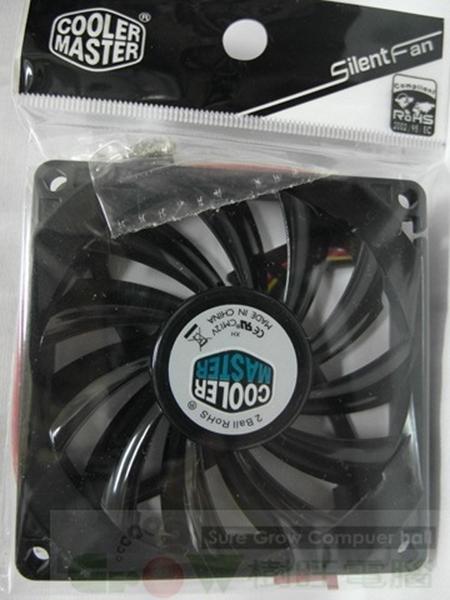 [地瓜球@] Cooler Master Silent Fan 薄型 長效型 軸承 8公分 風扇 2000轉