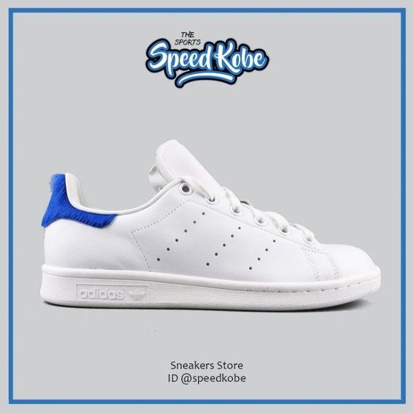 Adidas Originals Stan Smith W 白 寶藍 馬毛 皮革 復古 芝麻街 S75559 ☆SP☆