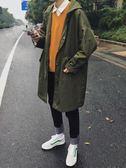 風衣 新款男士風衣中長款外套韓版寬鬆冬季大衣  萬客居