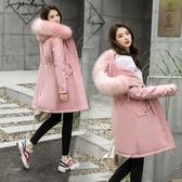 外套 棉襖 羽絨 冬季女裝2020新款潮韓版派克服棉衣女中長款學生加厚羽絨棉服外套